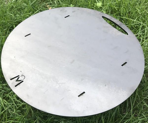 Feuerplatte Grillplatte Ø 385 mm 6mm - passend für die Vertikal Grills