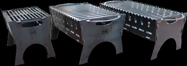 Pocket Mangal Grill verschiedene Größen Mobil Stecksystem Schaschlik 3mm